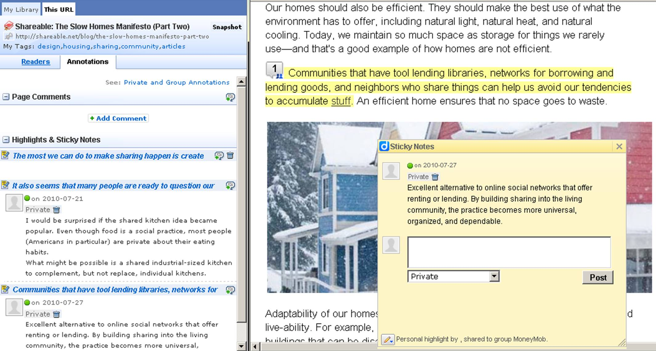 """To Annotate A Web Page: Simply Click On The Saved Link In Your Diigo  Library Use The Diigo Toolbar To Highlight Text And Add """"sticky Notes"""